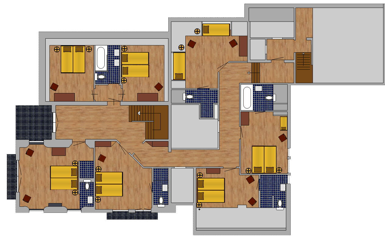 first floor holiday home
